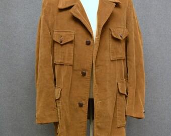 1970s Weathercaster Corduroy Coat