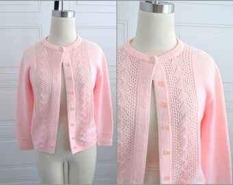 1960s Pink Cardign Sweater