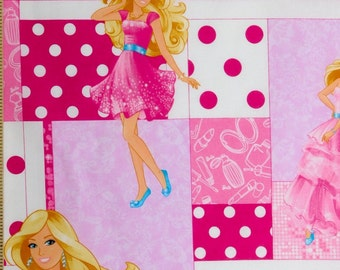 Barbie fabric, 100% cotton fabric for Quilting and general sewing projects.