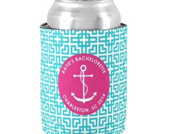 Personalized Nautical Cruise Can Coolers - Bachelorette Party Favors - Boat Can Coolie - Cruise Favors - Personalized Bridesmaid Gifts