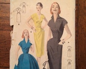 7750 1950's Wiggle Dress Vintage Sewing Pattern Butterick 7750 Bust 36