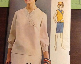Vintage Advance 3252 Two Piece Dress Sewing Pattern 32 Inch Bust