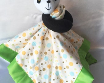 Panda Plush Security Blanket - Gender Neutral - Your Child Can Have A Plush and Blankie All In One - Cute Baby Shower Gift Idea