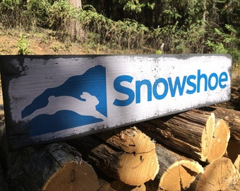 Snowshoe Mountain Resort, Handcrafted Rustic Wood Sign, Mountain Decor for Home and Cabin, 1125