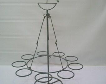 Hanging Candle Holder, Hanging Votives Holder, Rustic Candle Holder, Rustic Candle Display, Interesting Hanging Display,