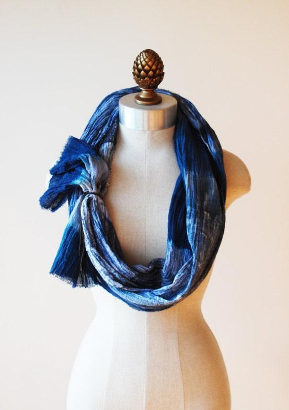 indigo painted scarf cotton scarves