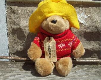 Paddington Bear Plush By Eden Toys, INC 1988 Stuffed teddy Bear