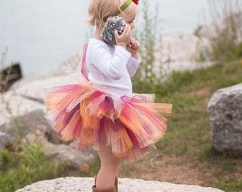 Plum Fall Tutu and Flower Headband - Fall Baby Tutu - Fall Photo Prop