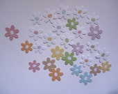 28 Small Daisy Embellishments Die Cut Multi Coloured Daisies Flower Flowers  for Scrapbooking and Paper Crafts