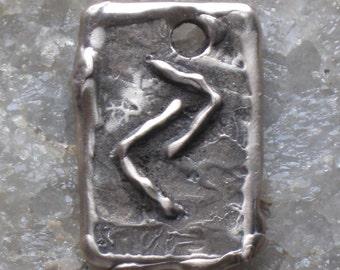 RUNES.Elder Futhark Bronze Rune Pendant of Rewards JERA..Rune Pendant.Organic Texture.Magical Rune.Magical Amulet.Viking Runes.Magical Charm