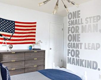 Space, Astronaut, Neil Armstrong - One small step for man, one giant leap for mankind oversized vinyl wall decal