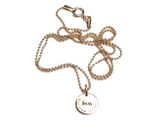 BOSS Charm Necklace with Morse Code secret message