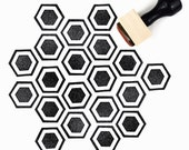 SALE Rubber Stamp Honeycomb Pattern (Sm) - Hand Drawn Geometric Hexagon Pattern Stamp