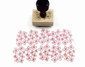 Rubber Stamp Dogwood Pattern - Hand Drawn Flower Pattern Stamp