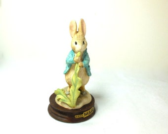 Peter Rabbit Figurine 100 year Anniv. Border Fine Arts Signed by Artist/Numbered Collectible Home decor Great gift! Beatrix Potter