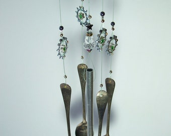 Wind Chime, Small Garden Wind Chime, Hand Crafted Unique Chime