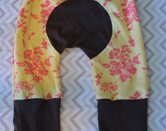 Miniloones upcycled material 3 months to 12 months, floral print