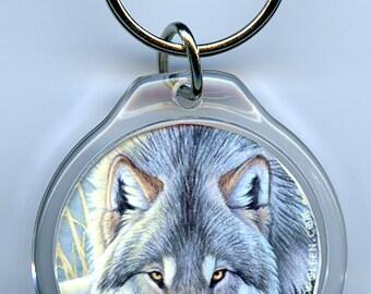 Wolf Stare Keychain