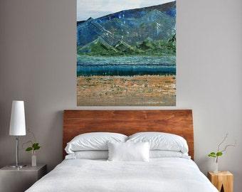 READY TO SHIP: 36x24 Serene Textured/Impasto Abstract Landscape Field River Mountain Stream Prairie Woodland Wanderlust Original Art