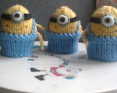 Set of 4 Minion Easter Egg Cosies