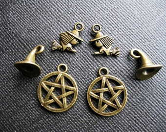 SALE - Witch Charm Collection in Bronze Tone - C2489