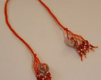 Braided Hemp Bookmark - Redline Jasper