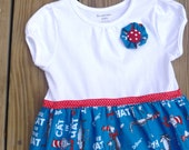 Cat in the Hat Tee Shirt OR  Bodysuit Dress / Dr. Seuss Dress / Toddler Dress / Baby Dress
