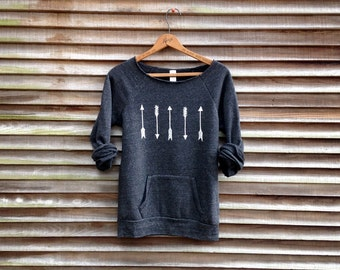 one way or another Arrows Sweater, Boho Top, Tribal Sweatshirt, S,M,L,XL,2XL