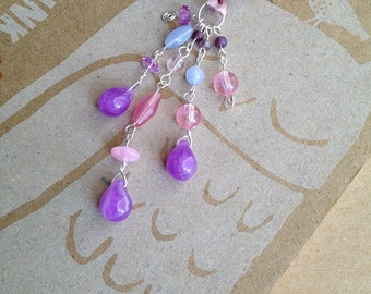 Purple Book Thong Beaded Bookmark Feminine Teardrop Book Club Teacher Gift Easter