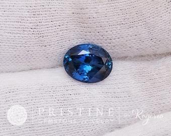 Blue Sapphire Oval Shape 2.21 Carats Precision Cut Gemstone