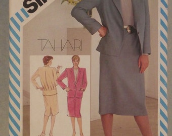Simplicity Sewing Pattern 6265 - Size 8 - 1980s Office Wear , skirt, blouse and jacket: Vintage