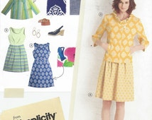 Lisette Womens Spring Sleeveless Dress and Jacket Simplicity Sewing Pattern 2209 Size 6 8 10 12 14 Bust 30 1/2 to 36 UnCut