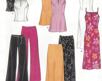 Womens Top, Tunic or Dress, Skirt & Wide Leg Pants New Look Sewing Pattern 6082 Size 10 12 14 16 18 20 22 Bust 32 1/2 to 44 UnCut