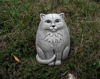 Cat Statue, Large Concrete Garden Cats, Cement Cat Figure, Garden Decor,  Concrete