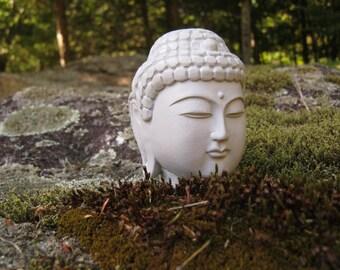 Buddha Head, Concrete Home Decor, Plant Pot Decor, Zen Garden, Concrete  Buddha