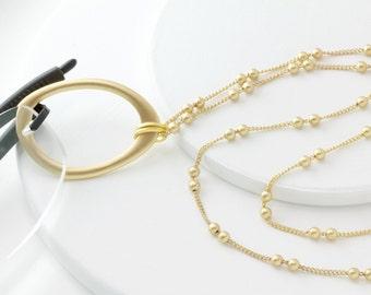 Gold Eyeglass Lanyard,Eyeglass Chain,Glasses Chain,Eyeglass Holder, Gold Eyeglass Chain,Reading Glasses,Eyeglass Holder Necklace, Eyewear