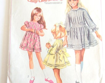 "Vintage 1960s Simplicity 8111 Child's size 10 DRESS pattern Breast 28 1/2"" Cut and Complete"