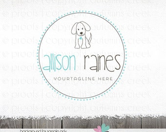 dog logo - premade logo - dog sitting logo - dog walker logo - Premade Logo  - phtography Logo Design - Dog photography pet logo design
