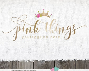 tiara logo photography logo premade logo gold logos crown logos and watermarks photographer logo princess logo premade logo designs logos