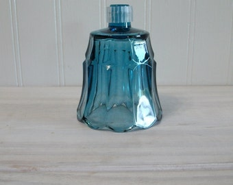 Home Interiors Vintage Blue Glass Flower Petal Shaped Candle Cup for a Candle Holder Sconce