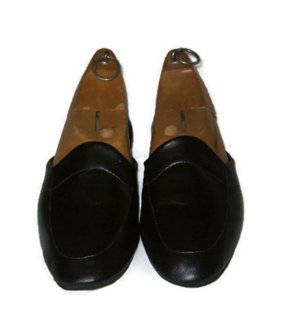 60s travel slippers black slippers black house shoes black