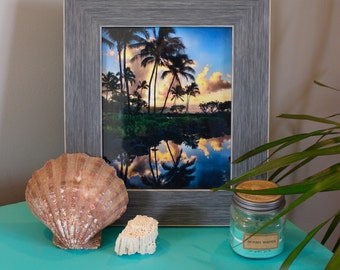 Palm Tree Beach Kauai Hawaii Photography Print Poipu Beach - 8x10 Size! Housewarming Gift Beach House Tropical