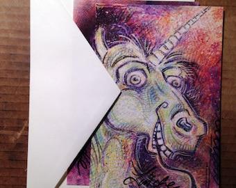 Creature Feature Postcards, 2-Piece Illustration Set