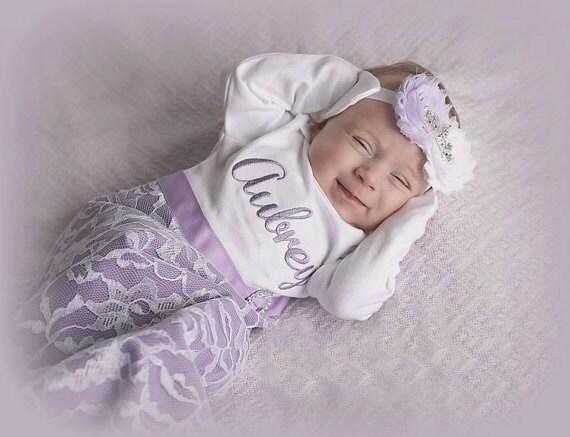Assez Personnalisé naissance bébé fille vêtements nouveau-né fille QP42