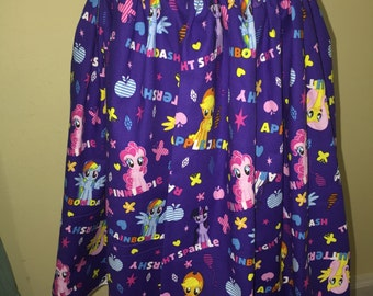 Custom made My Little Pony MLP Friendship Ponies Names Inspired fabric Skirt Elastic Wasitband 18-24M 2t 3t 4t 5 6 7 8 10 12 14 choose size