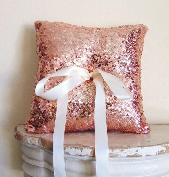 Rose Gold Sequin Ring Bearer Pillow, Rose Gold Ring Bearer Pillow, Rose Gold Wedding Decor, Rose Gold Wedding, Rose Gold TOUCH OF ROSE