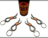 4 Keychain Bottle Openers Groomsmen Gift Set - Personalized Option Available - Hand Forged by Naz - Gifts for Groomsmen Ushers Gift Men