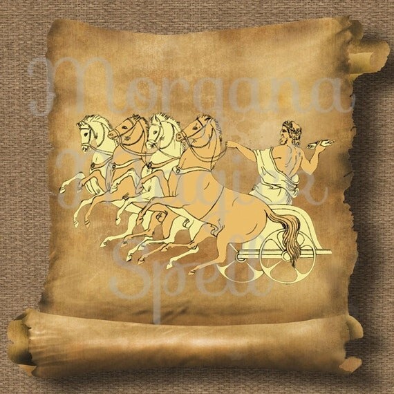 Zeus Chariot Royalty Free Clipart
