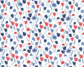 Aria Abloom in Cloud Navy, Kate Spain, 100% Cotton, Moda Fabrics, 27236 26