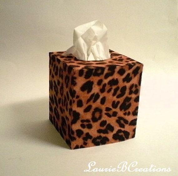 Animal Print Tissue Box Cover Decorative W By